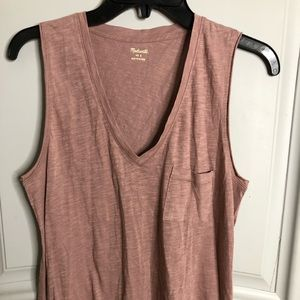 Dusty pink madewell top